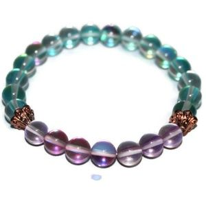 Aqua & Rose Aura Quartz Bracelet for Women